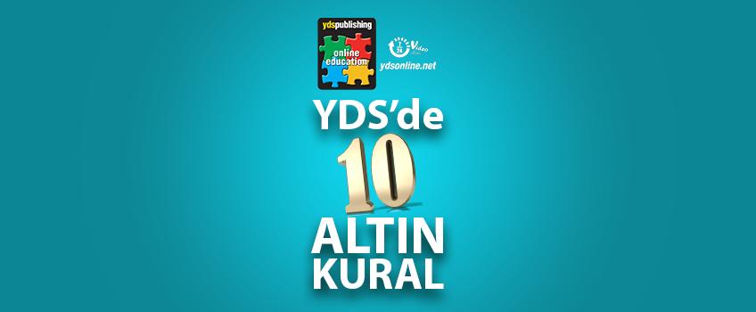 YDS'de 10 Altın Kural