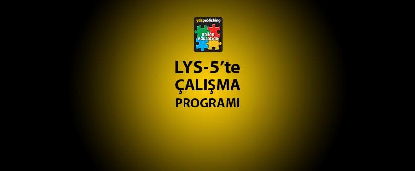 LYS 5 Çalışma Programı